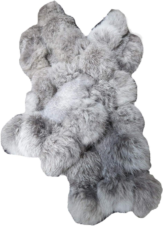 Real Rabbit Fur Scarf Warm...