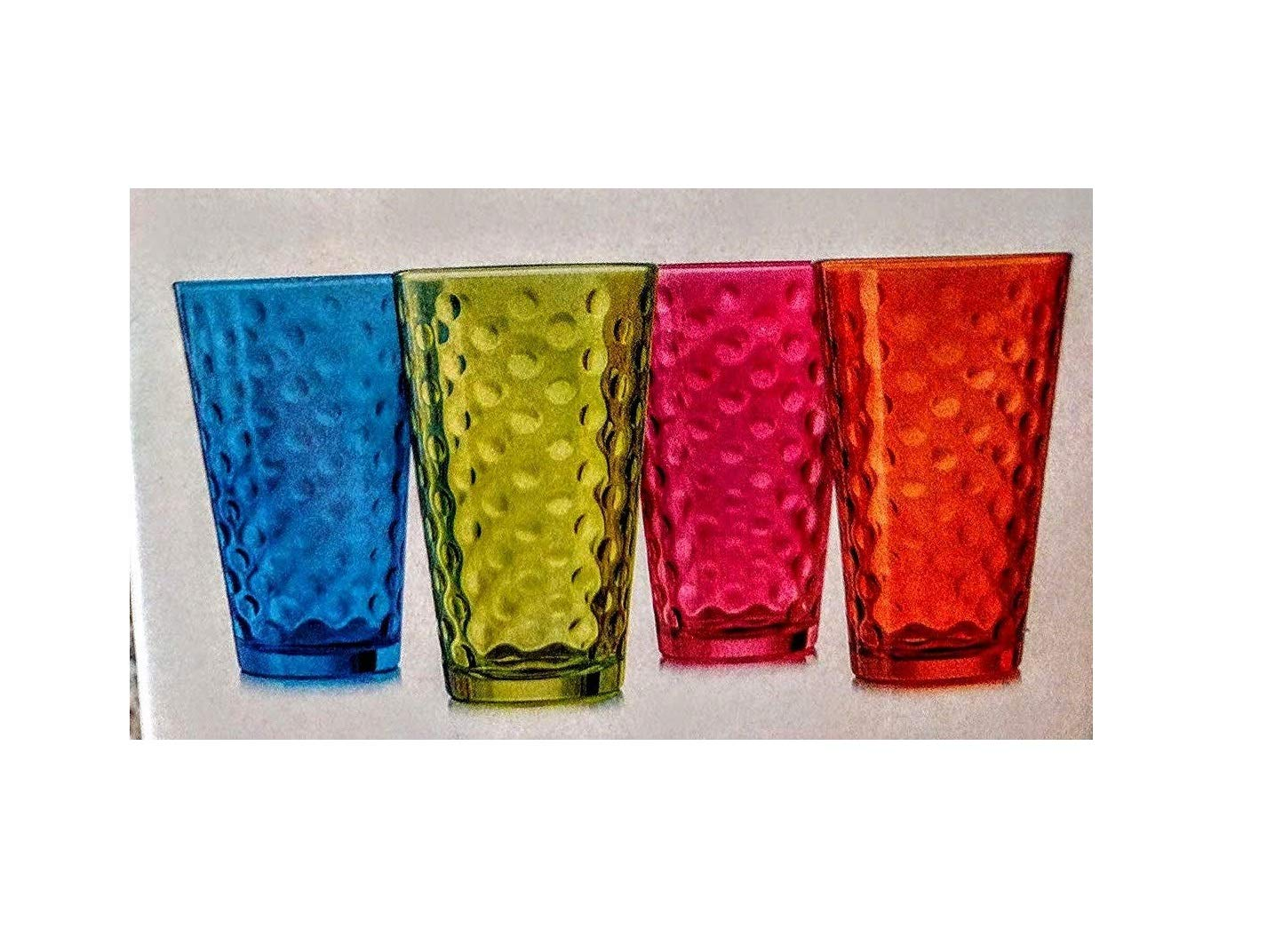Libbey awa Cooler 16 oz Glass Drinking Glasses - Multi Color
