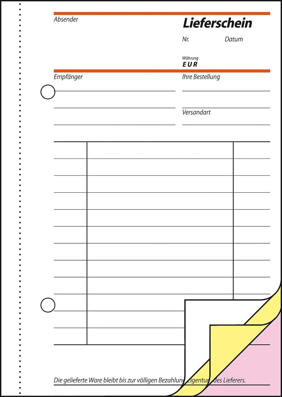 /Contenuto scheine de A6 2x 10 pezzi Sigel Formulare/