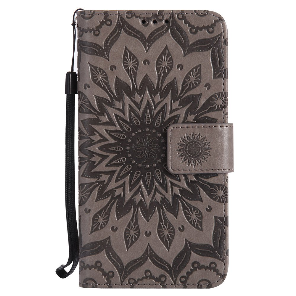 Premium PU Leather Folio Flip Case Cover for Motorola Moto G4 Play Elephant Blue Kickstand Moto G4 Play Case LEECOCO Unique Embossed Wallet Case with Card Cash Holder Slots Wrist Strap