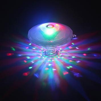 Lumière de Bain Imperméable 7 Motifs Flottant Lumière Colorée Disco ...