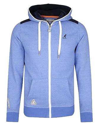15e9661c Kangol Men's Gander Zip Up Sweatshirt Hoodie Light Blue Marl: Amazon.co.uk:  Clothing