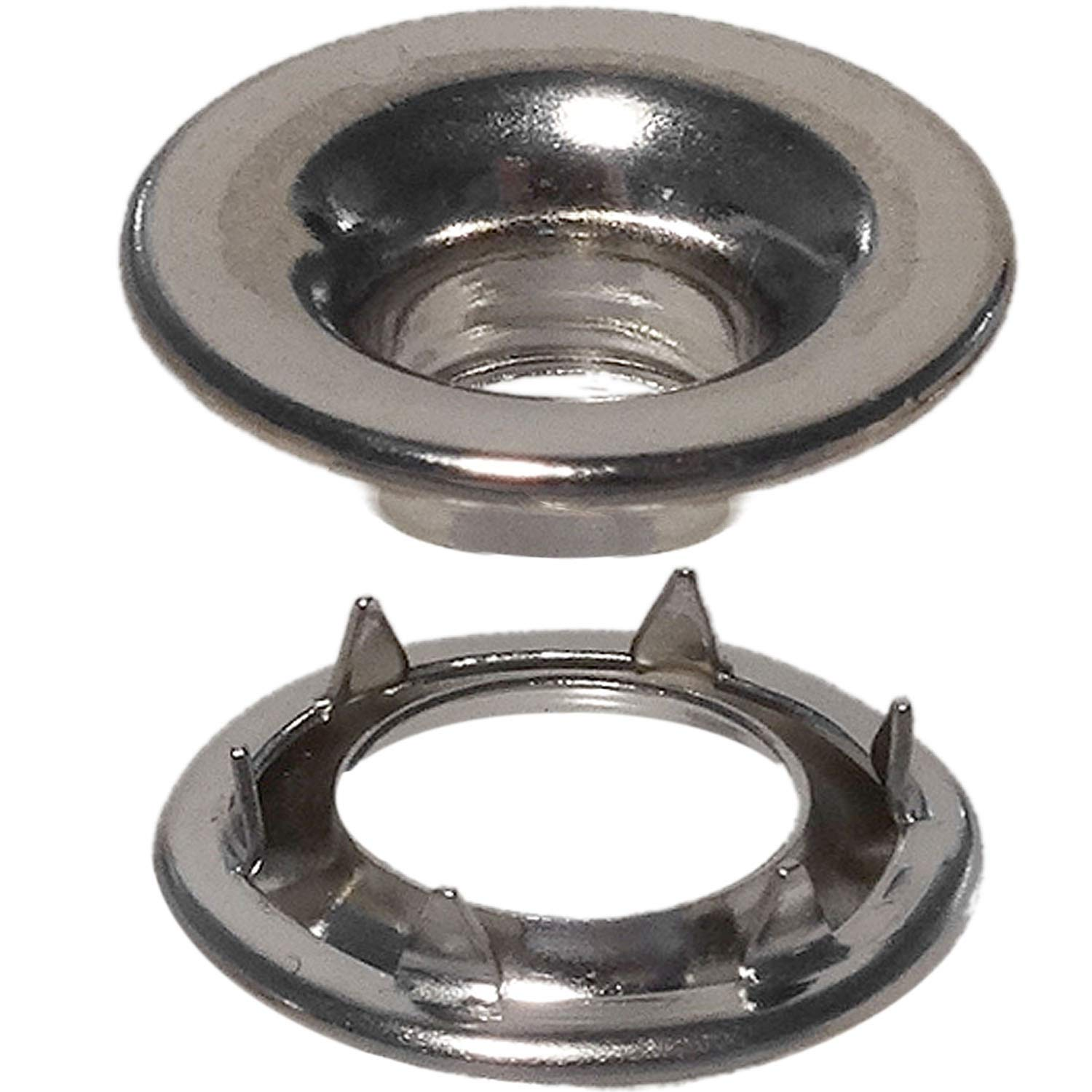 Stimpson Rolled Rim Grommet and Spur Washer Nickel-Plated Durable, Reliable, Heavy-Duty #0 Set (3,600 Pieces of Each)