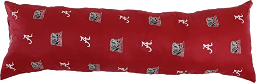 20 x 60 Red College Covers Alabama Crimson Tide Pillowcase Only-Body Pillow