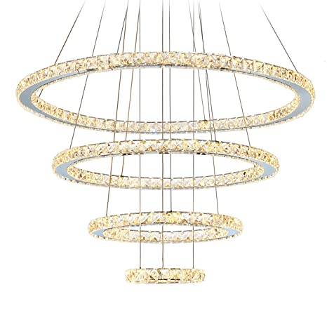 Lights & Lighting Smart Modern Artificial Crystal Pendant Ceiling Light Chandelier Dining Hall Decor Punctual Timing