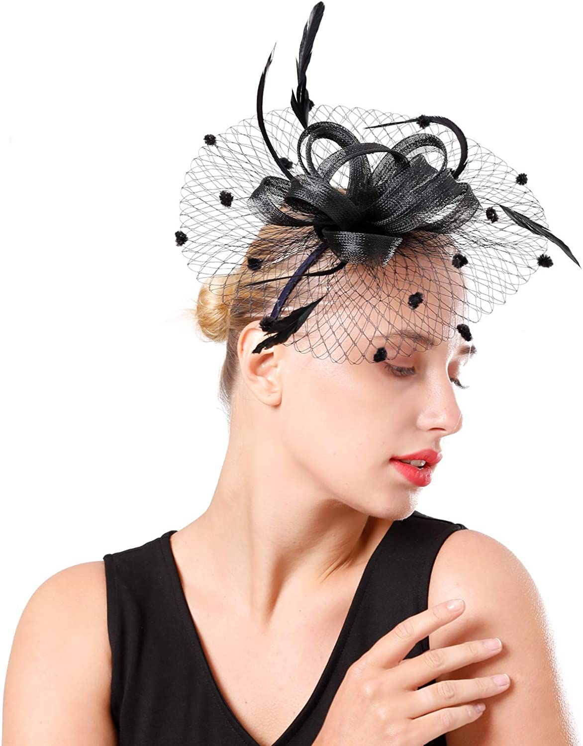 Fascinator Pillbox Hat for Women Tea Party Wedding Kenturky Derby