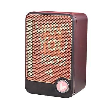 Dooret Mini Calentador Eléctrico Mini Ventilador Calentador Ventilador de Escritorio Hogar Enchufe de Pared Estufa Calentador Radiador Rápido Práctico ...