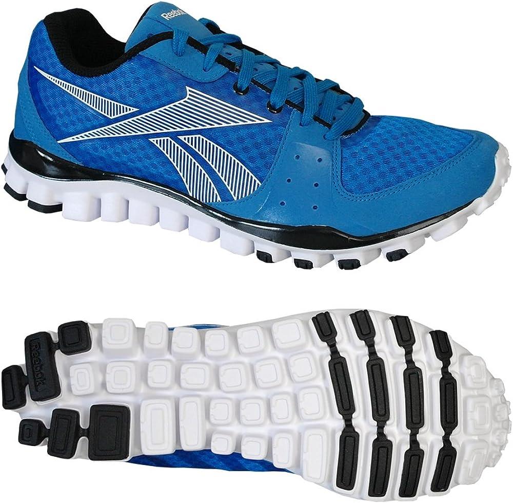 Reebok FealFlex Transition - Zapatillas de Running de Ante para Hombre Azul Azul Azul Azul Talla:47: Amazon.es: Deportes y aire libre