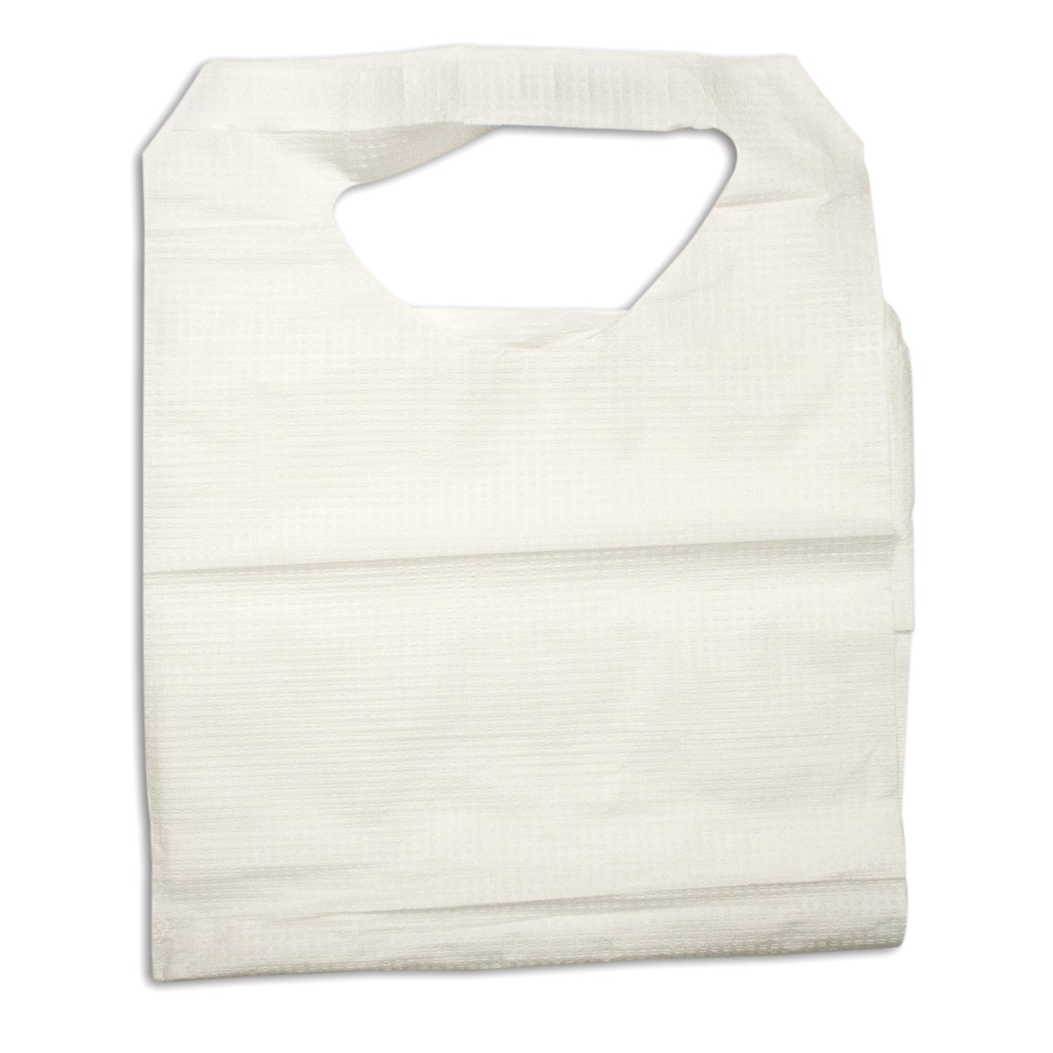 Dynarex 4405 Paper/Poly Lap Bibs with Ties