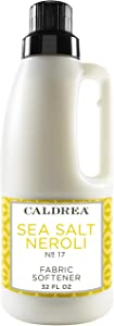 Caldrea Liquid Fabric Softener, Plant Derived, Helps remove static and wrinkles, Sea Salt Neroli Scent, 32 oz
