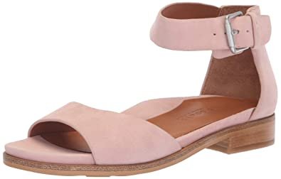 fe986e20a11b Gentle Souls by Kenneth Cole Women's Gracey Flat Sandal with Ankle Strap  Sandal, peony,