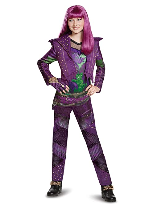 080c488e3 Amazon.com: Disguise Mal Deluxe Descendants 2 Costume, Purple, Large  (10-12): Toys & Games