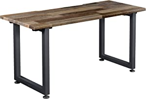 Vari Table (60x30) - Office Desk with Durable Finish & Cable Management Tray - (Reclaimed Wood)