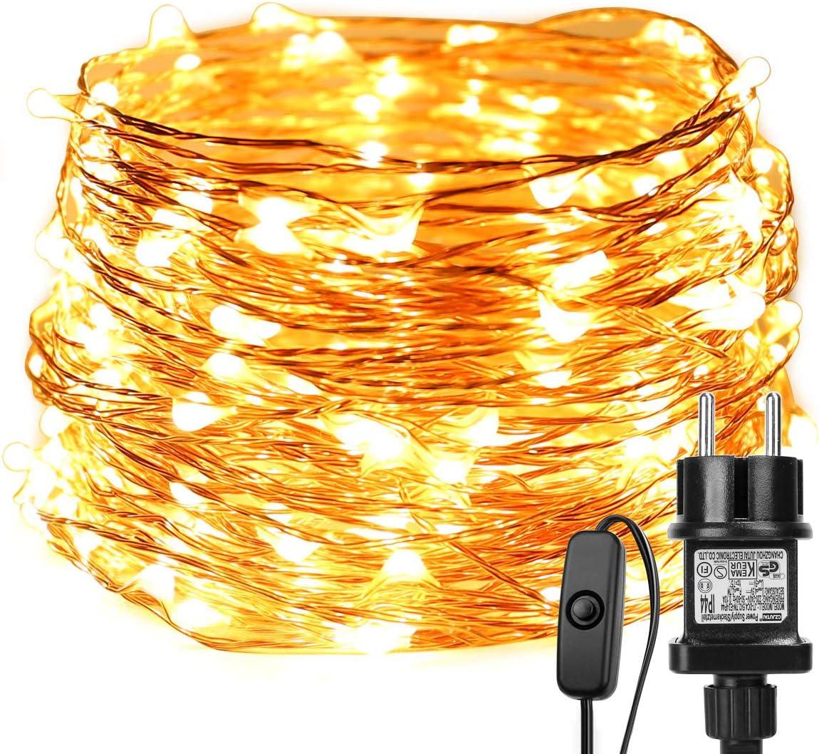15 x 20 LEDs Guirlande lumineuse Blanc Chaud Dioxide 2M bande lumi/ère Li/ège Lampes pour DIY Maison Decoration Mariage Soir/ée