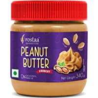 Rostaa Peanut Butter Crunchy, 340 gm (Pack of 1)