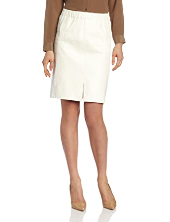 Amazon.com: HALSTON HERITAGE Women's Leather Combo Pencil Skirt ...