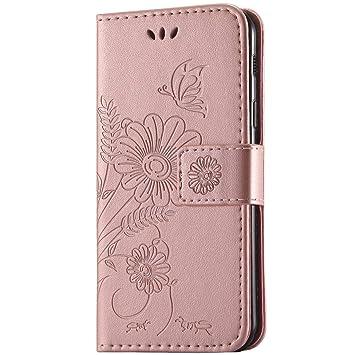 kazineer Samsung Galaxy A3 2017 Hülle, Galaxy A3 (2017) Handyhülle Leder Tasche Schutzhülle Blume Muster Etui für Samsung A3