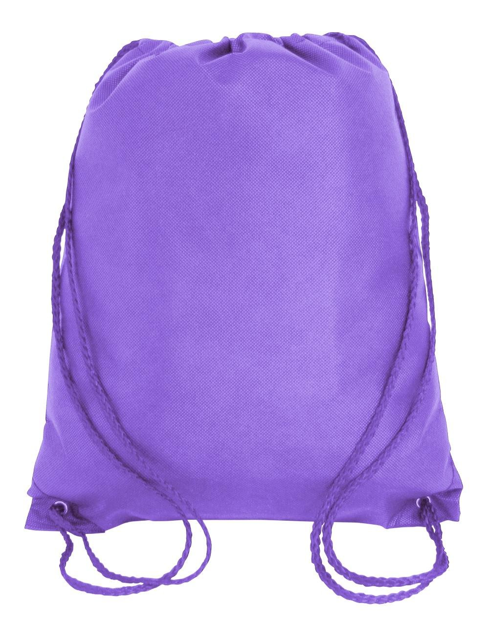 Drawstring Tote Backpack Non-Woven Cinch Sack Bag Swim Camp Party Favor 25 Pack (Hyacinth)