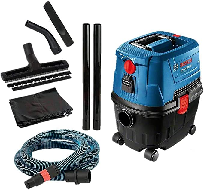Bosch GAS 15 PS - Aspirador de agua y polvo 1100 W, 270 mbar 53 L ...