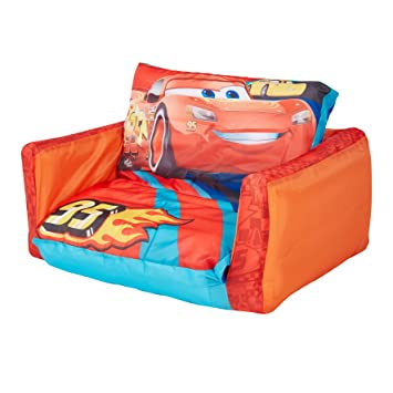 Cars Disney Mini sofá abatible - Sofá abatible y Tumbona Dos en uno
