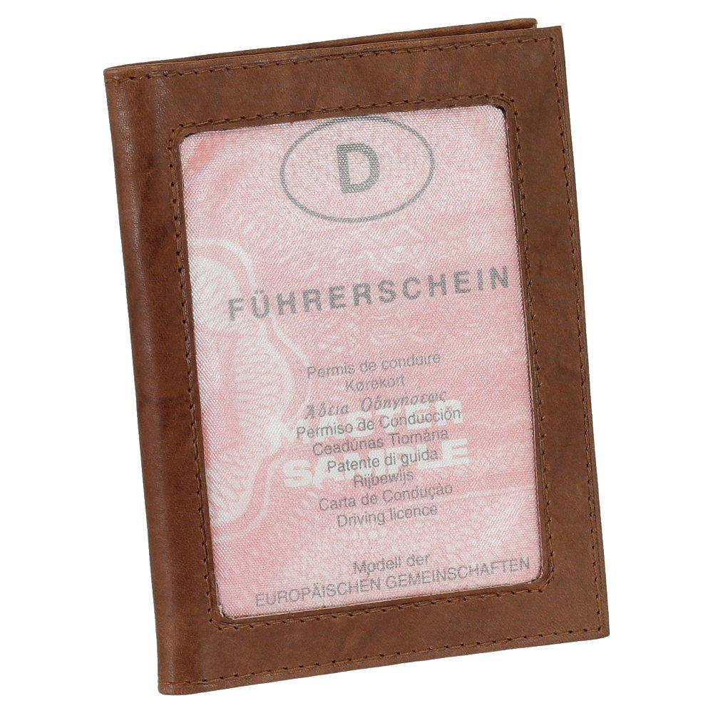 Leder Ausweisetui Ausweishülle Kreditkartenetui Ausweismappe Kartenetui KFZ Mappe Etui vers. Farben Ledershop24 301