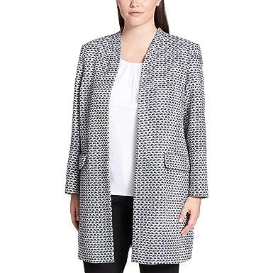defeddc5c1e27 Amazon.com  Calvin Klein Womens Plus Metallic Tweed Topper Jacket B ...
