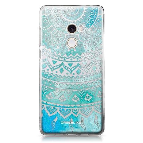 CASEiLIKE® Funda Mi Mix 2, Carcasa Xiaomi Mi Mix 2, Arte Indio de la línea 2066, TPU Gel Silicone Protectora Cover
