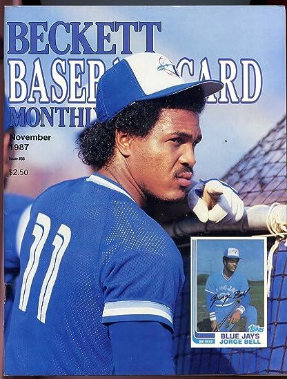 Beckett Baseball Card Monthly 33 November 1987 Jorge Bell