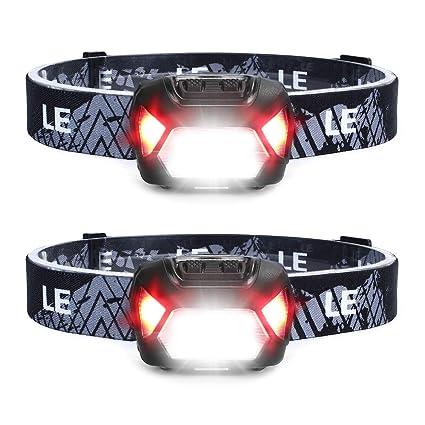 USB Kabel inkl. 6 Lichtmodi Kopflampe IPX4 USB Wiederaufladbar LED Stirnlampe