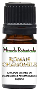 Miracle Botanicals Roman Chamomile Essential Oil - 100% Pure Anthemis Nobilis - Therapeutic Grade 5ml