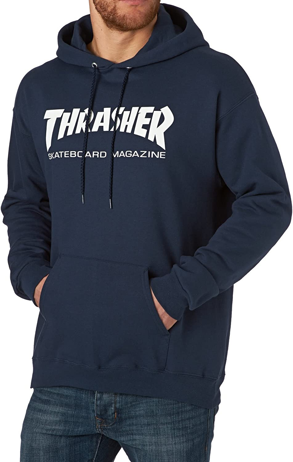 Thrasher - THRASHER SWEAT HOOD SKATE MAG BLACK