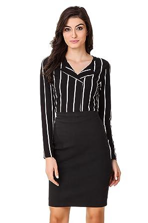 bb891ba7aa326 TEXCO Bold Striped Stylish Women Shirt  Amazon.in  Clothing ...