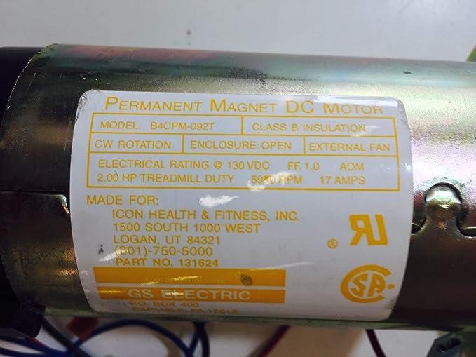 Icon Health & Fitness, Inc. DC Drive Motor 124183 2.0 HP 65301 ...
