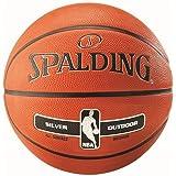 Spalding NBA Silver Junioren Damen Herren Outdoor Basketball Sportskanone, Grösse:5