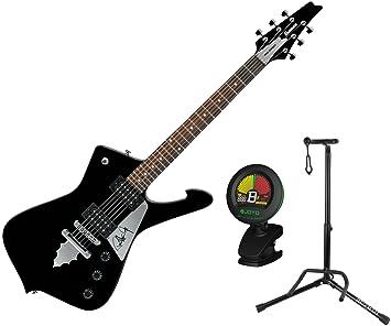 Ibanez Signature Series Paul Stanley negro guitarra eléctrica con soporte y sintonizador