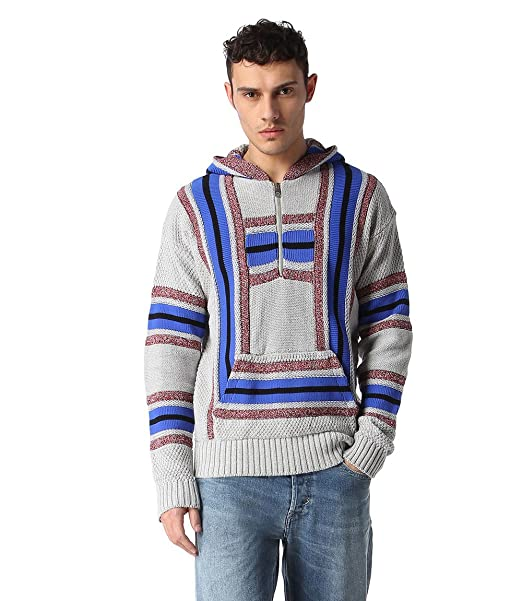 DIESEL - Sudadera con capucha - para hombre gris M: Amazon.es: Ropa y accesorios