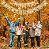 Rainlemon Jute Burlap Happy Friendsgiving Banner