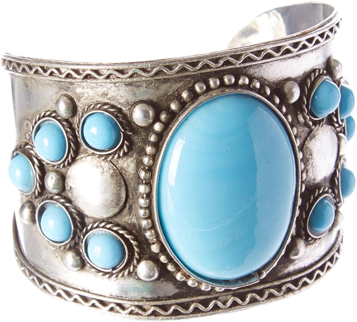 Agate Cuff Bracelet Silver Metal Cuff Boho Jewellery Gypsy Cuff Bracelet Tribal Mens Women/'s Jewellery Adjustable Bangle Unisex