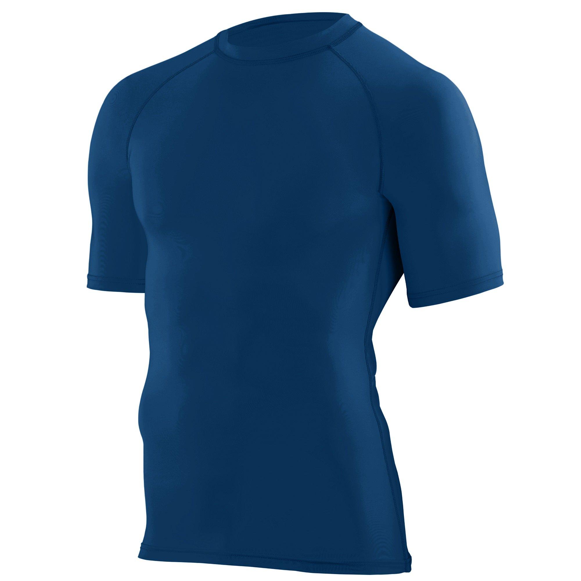 Augusta Sportswear Boys' Hyperform Compression Short Sleeve Shirt S Navy