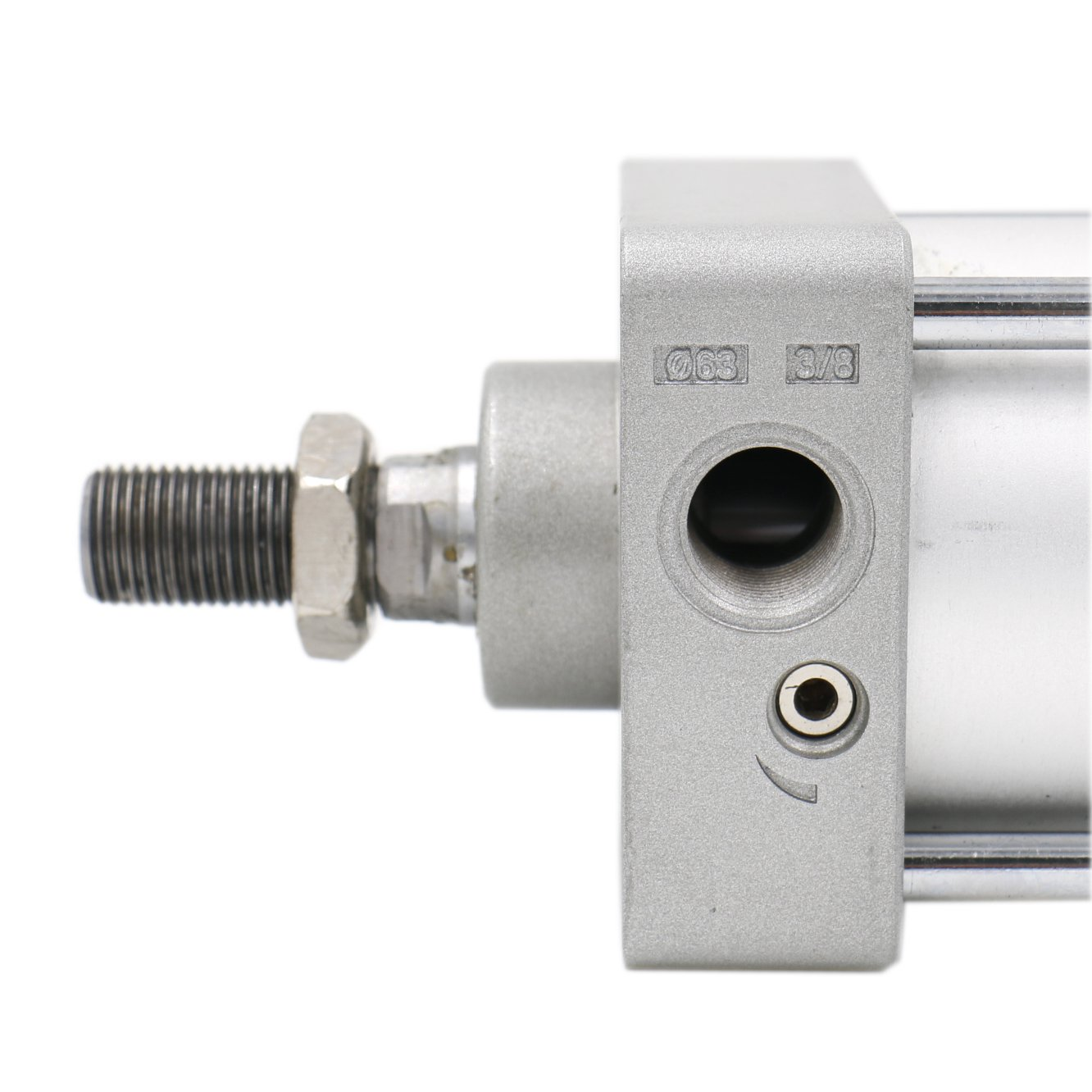 Stroke: 2 inch Screwed Piston Rod Dual Action Baomain Pneumatic Air Cylinder SC 63 X 50 PT3//8 Bore: 2 1//2 inch