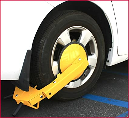 Amazon.com: Security Car Wheel Tire Claw Lock Automotive Anti Theft Clamp Boot Parking Vehicle Truck RV Boat Trailer - House Deals: Automotive