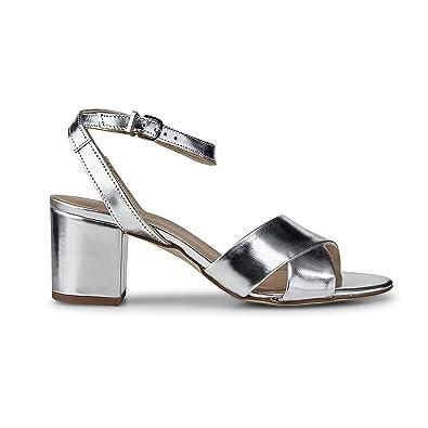 b4a2d3d22d0a6 DRIEVHOLT Damen Damen Trend Sandalette aus Leder, Riemchen Sandale ...