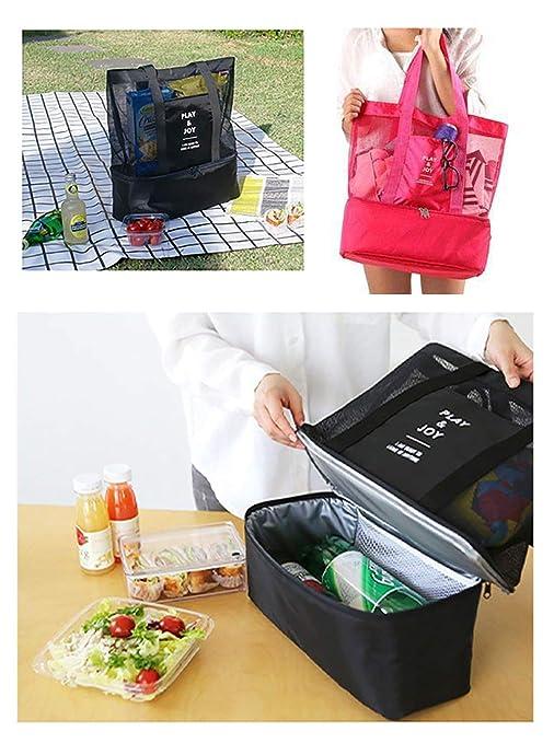 78b199e57ce9 Amazon.com : Cozyonme Portable Insulated Thermal Picnic Lunch Box ...