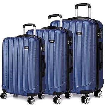 Kono Juego de maletas unisex adulto 3 piezas (Armada): Amazon.es: Equipaje