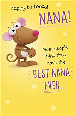 Galletas - Happy Birthday Nana? Tarjeta de cumpleaños para ...