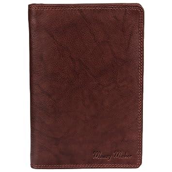 98fab95c155ff Große Herren Leder Brieftasche Ausweismappe braun - präsentiert von ZMOKA®