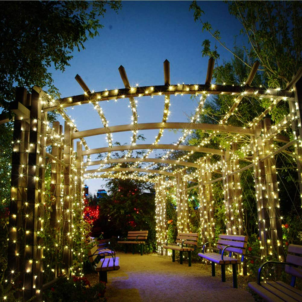 Solar String Lights Outdoor Garden Fairy Lights 50 LED Solar Powered Christmas Lights 8 Mode 7M//23ft Waterproof Decking /& Patio Lighting for Home,Outside Party,Wedding,Yard Warm White