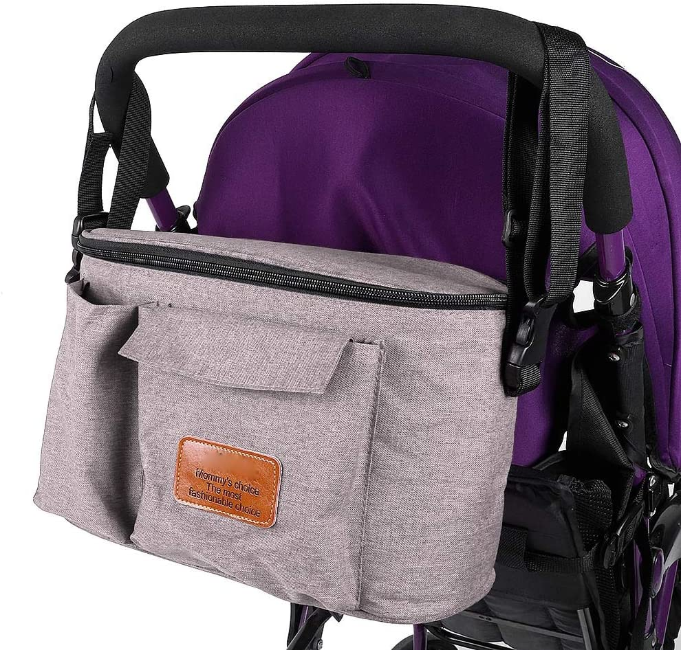 Wallfire Baby Stroller Organiser Bag Multi-Function Waterproof Pram Buggy Storage Bag Mommy Shoulder Bag Diaper Bag for Pushchair Baby Stroller
