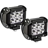 YITAMOTOR 2PACK 18W 4'' Square Led Work Light Spot Pod Light Driving Light Fog Light Offroad Led Lights Waterproof for Truck 4WD Van Boat UTE ATV SUV Jeep Boat Golf Cart 12V 24V,2 Years Warranty