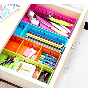 Creative Storage Drawers Drawer Organizers VANORIG Plastic Drawer Dividers  Drawer Storage Box Stationery Makeup Organizers ,